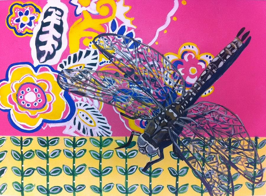 Dragon Fly Painting - Dragonfly by Amy Reisland-Speer