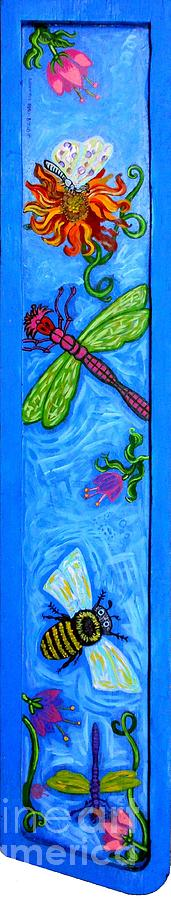 Dragonfly Painting - Dragonfly And Bee by Genevieve Esson