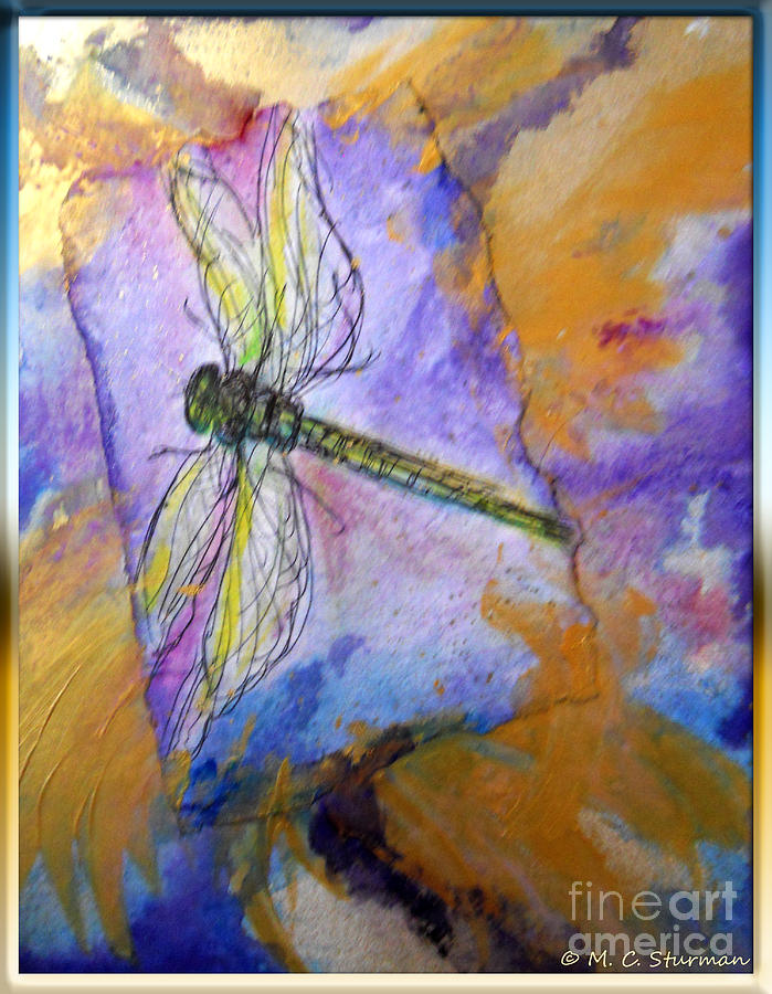 Dragonfly Painting - Dragonfly Dreams by M C Sturman