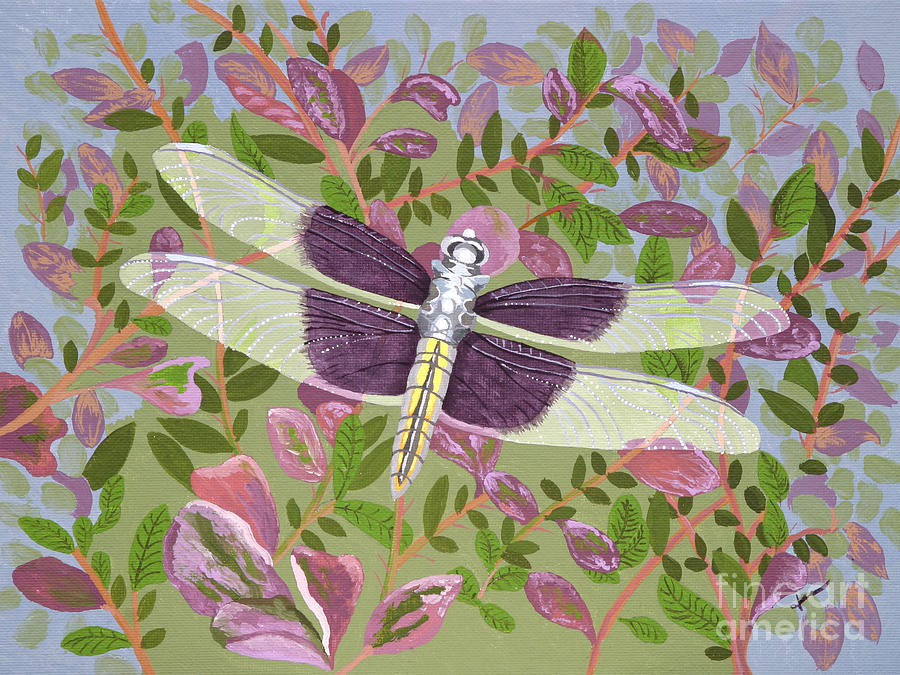 Dragonfly Painting - Dragonfly I by Jennifer  Donald