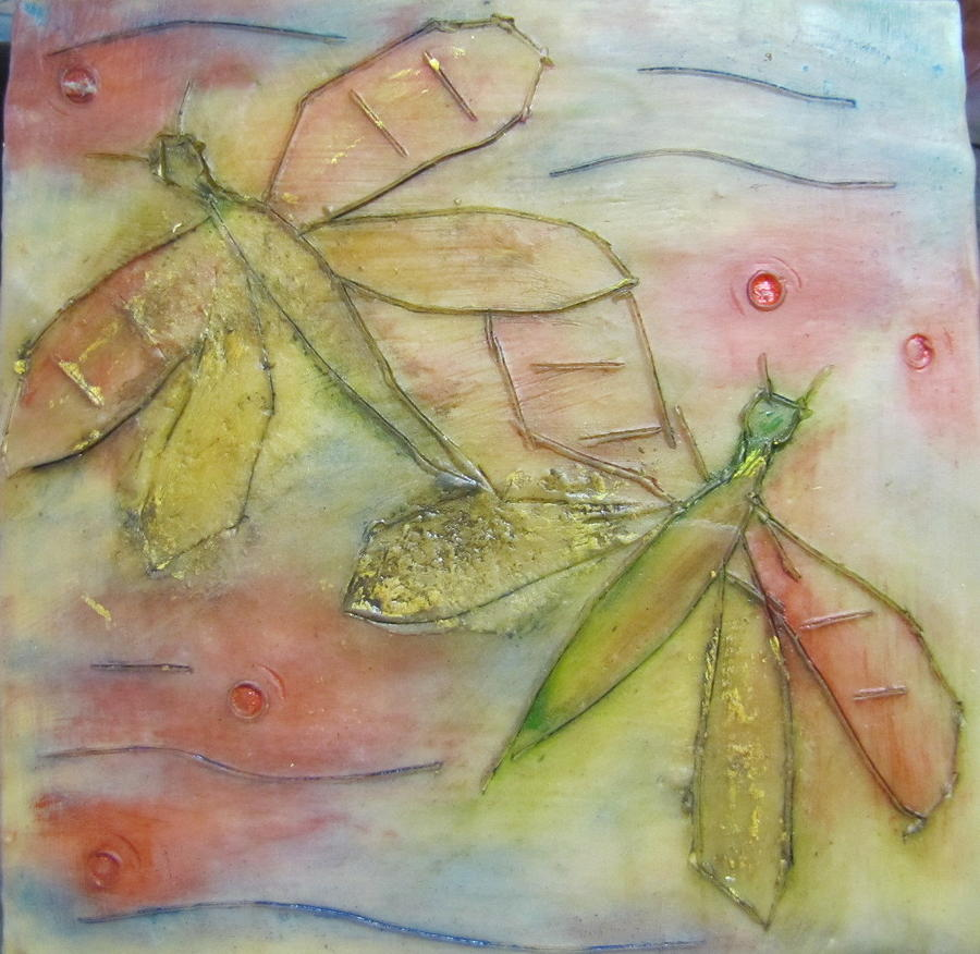 Dragonfly Painting - Dragonflys 1 by Jenell Richards