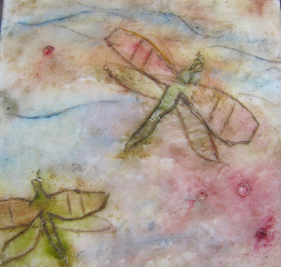 Dragonfly Painting - Dragonflys 2 by Jenell Richards