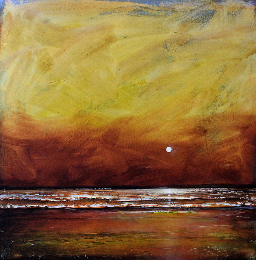 Gold Painting - Drama Ocean by Toni Grote