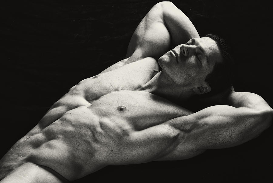 Male Nude Photograph - Dramatic Coffee II by Thomas Mitchell