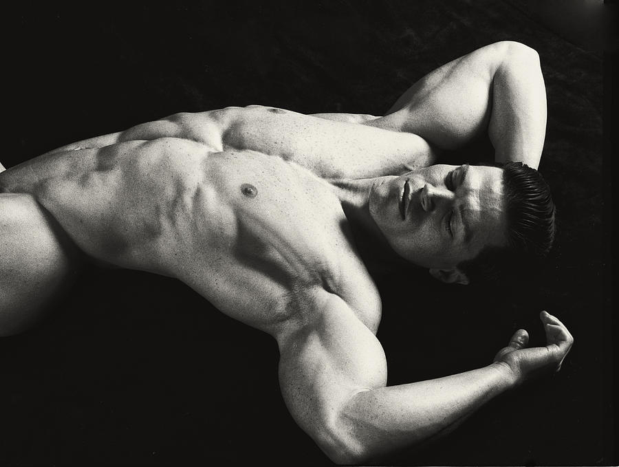 Male Nude Photograph - Dramatic Coffee by Thomas Mitchell