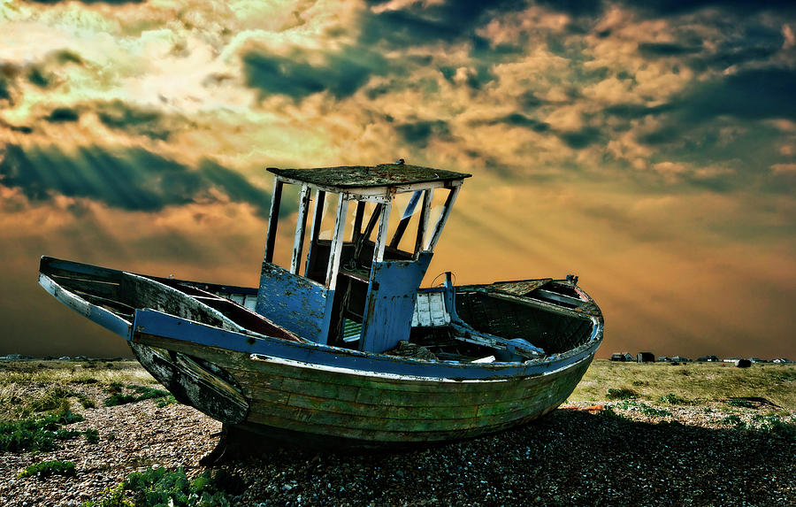 Dungeness Photograph - Dramatic Dungeness by Meirion Matthias