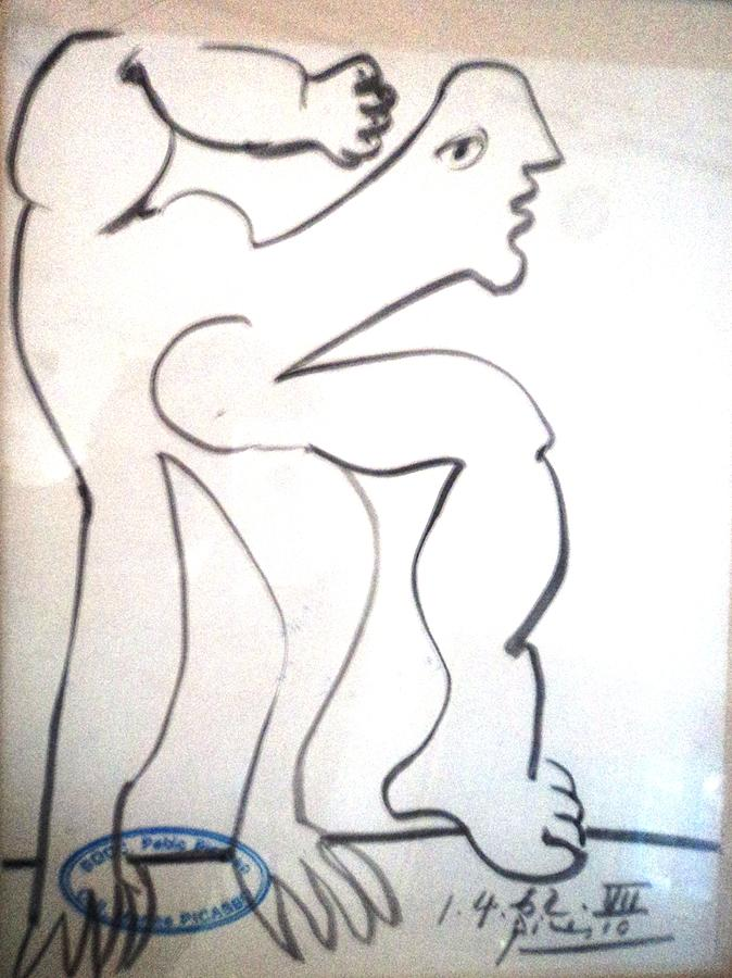 Drawing For Acrobat Painting By Pablo Picasso