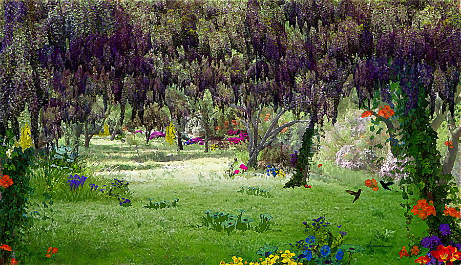 dream mixed media dream garden by kume bryant - Dream Garden