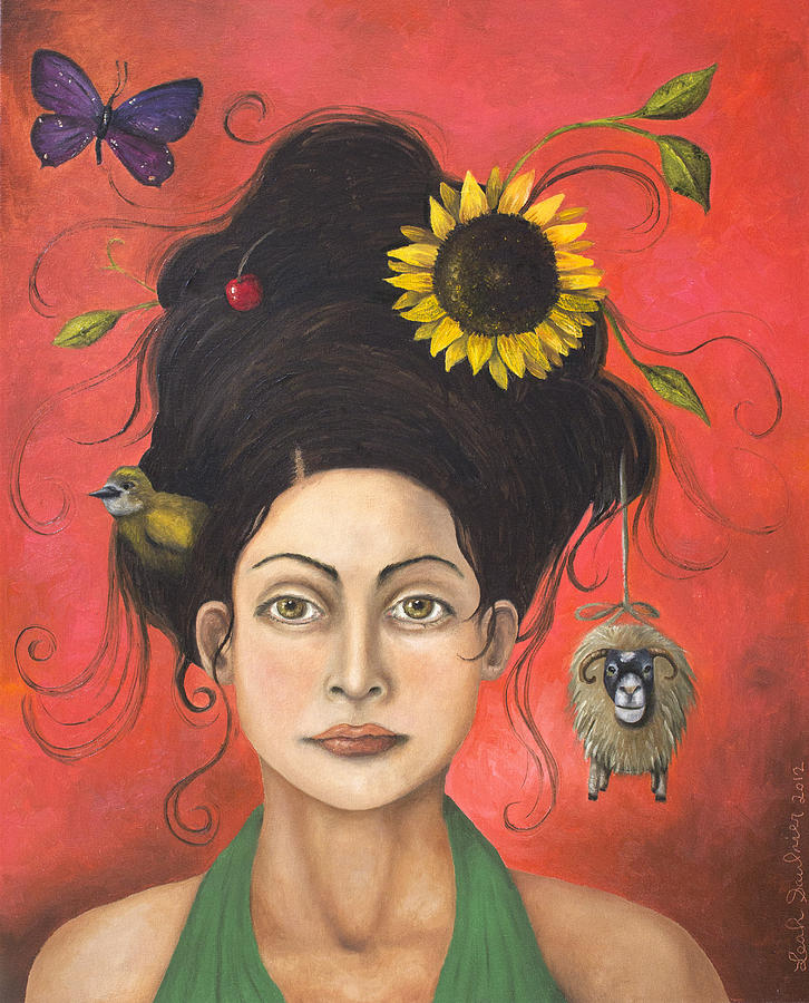 Portrait Painting - Dream Hair 2 by Leah Saulnier The Painting Maniac