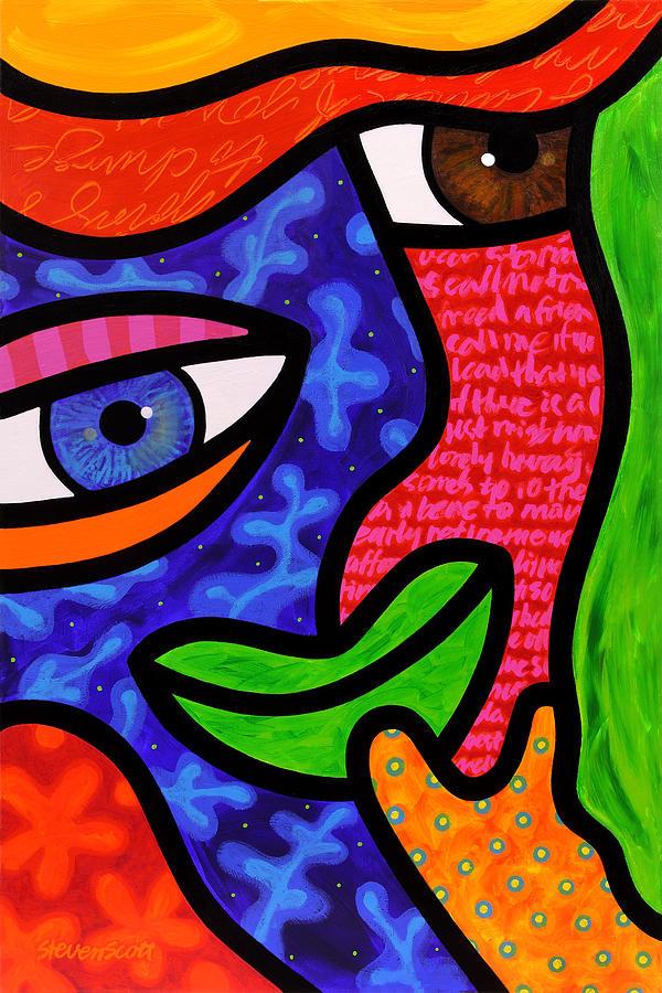Eyes Painting - Dream Weavers by Steven Scott