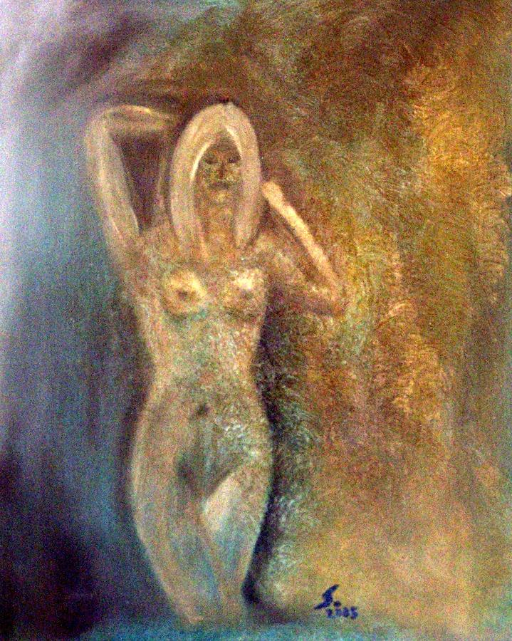 Nude Painting - Dreaming Alone by Susan Saver