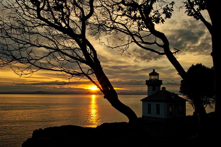Lime Kiln Lighthouse Photograph - Dreaming Of San Juan by Dan Mihai