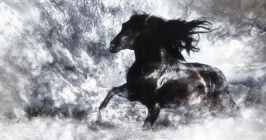 Horse Mixed Media - Dreamrider by Jarno Lahti