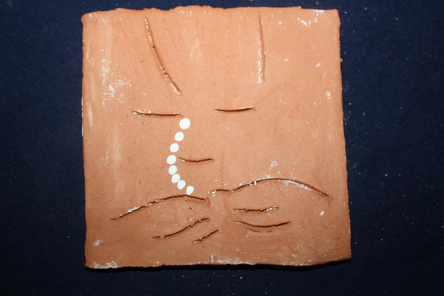 Jesus Ceramic Art - Dreams by Gloria Ssali