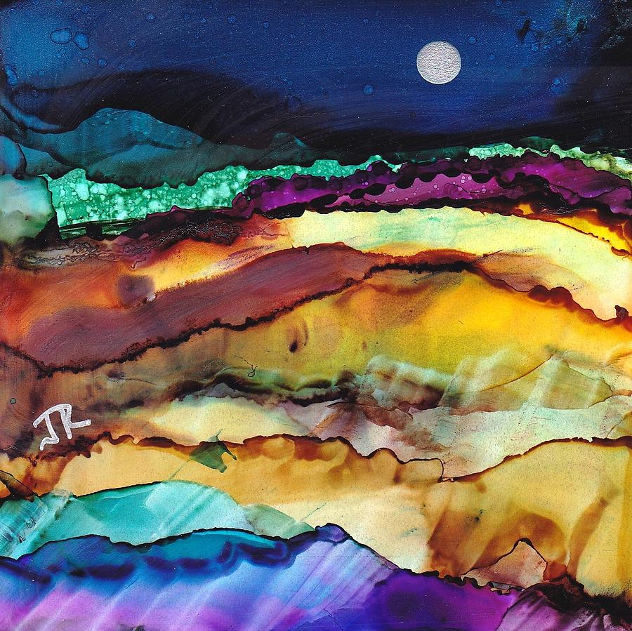 Alcohol Ink Painting - Dreamscape No. 173 by June Rollins