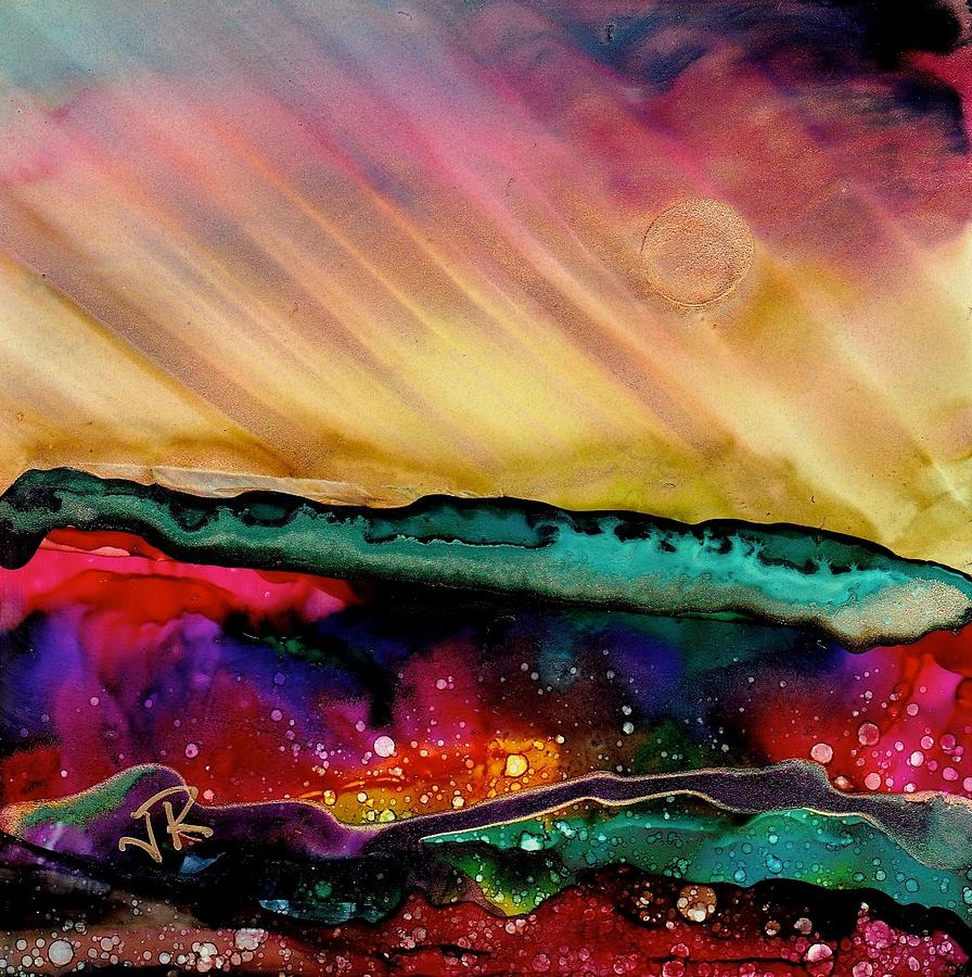 Alcohol Inks Painting - Dreamscape No. 190 by June Rollins
