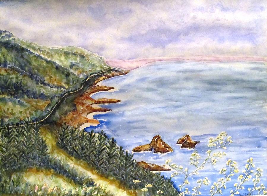 Ocean Painting - Dreamy Coast by DJ Laughlin