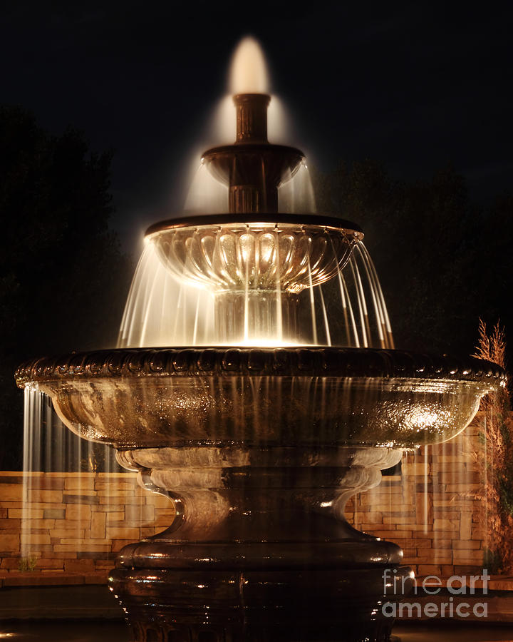 Fountain Photograph - Dreamy Fountain by Val Armstrong