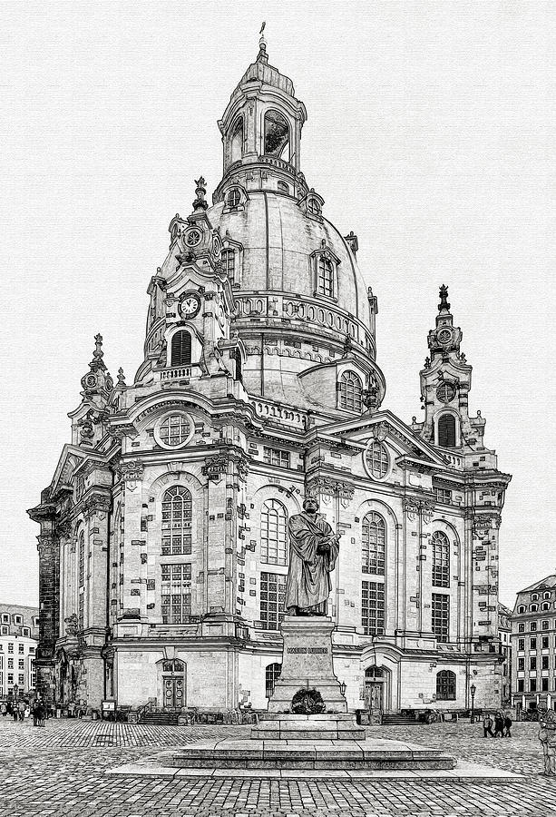 Lutheran Photograph - Dresdens Church Of Our Lady - Reminder Of Peace by Christine Till