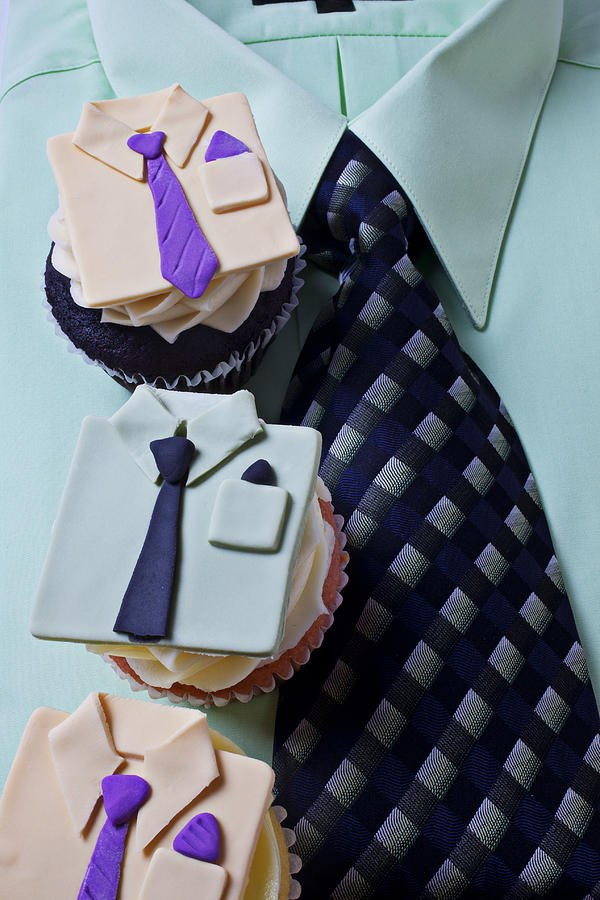 Cupcakes Photograph - Dress Shirt Cupcakes by Garry Gay
