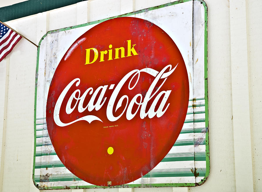 Antique Photograph - Drink Coca Cola by Susan Leggett