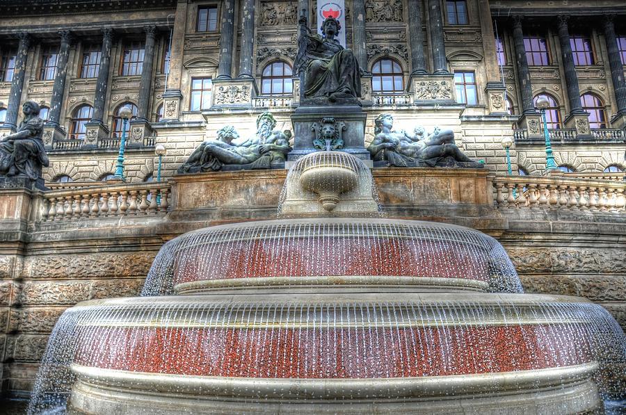 Helsinki Finland Digital Art - Drinking Fountain by Barry R Jones Jr