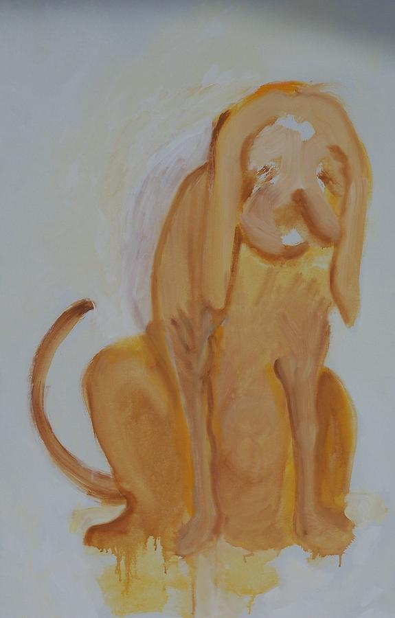 Drippy Painting - Drippy Dog by Jay Manne-Crusoe