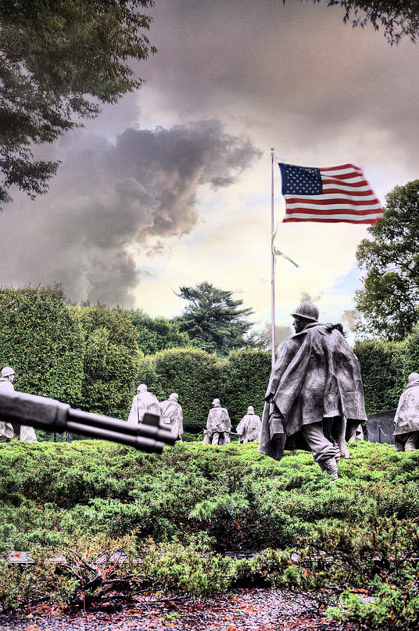 Korean War Memorial Photograph - Drive On by JC Findley