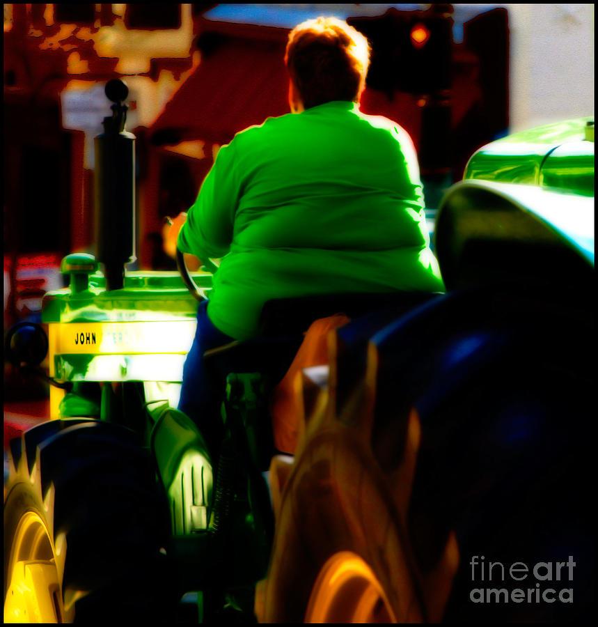 Tractors Photograph - Driving John Home by Steven Digman