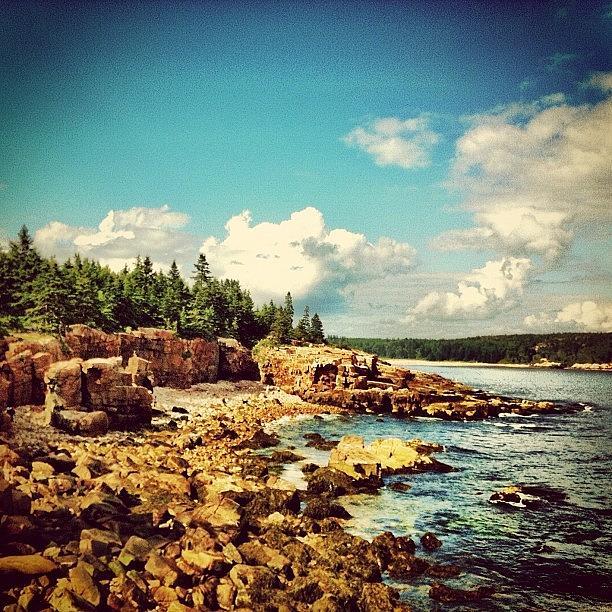 Summer Photograph - Driving On The Coast. #maine #acadia by Luke Kingma