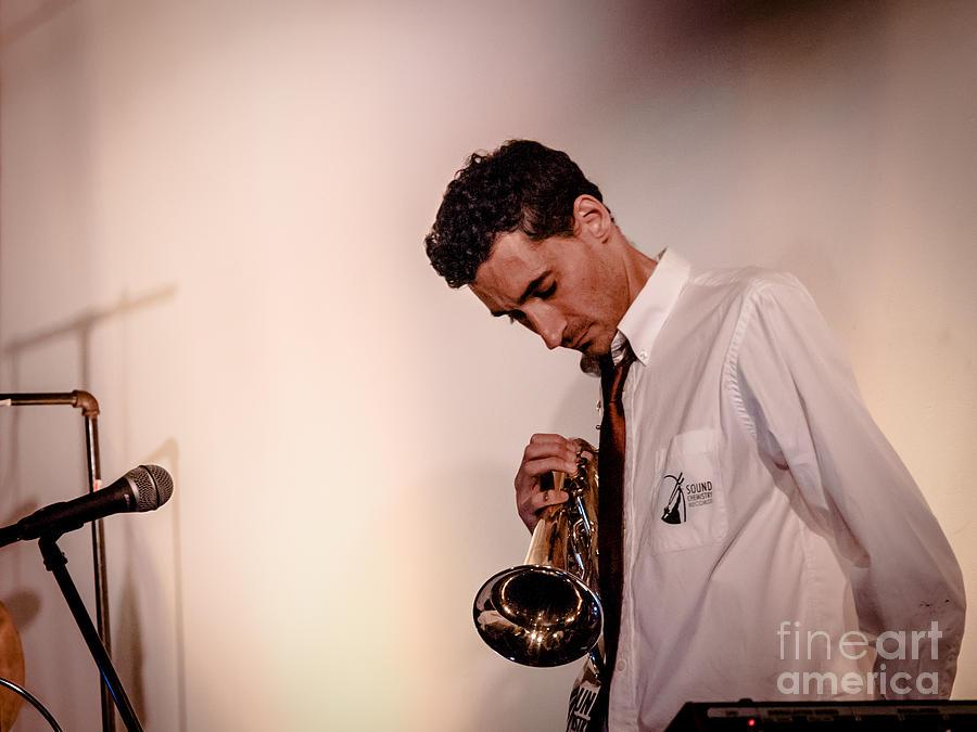 Droid Photograph - Droid- Jordan Mcclean On Trumpet by Jim DeLillo