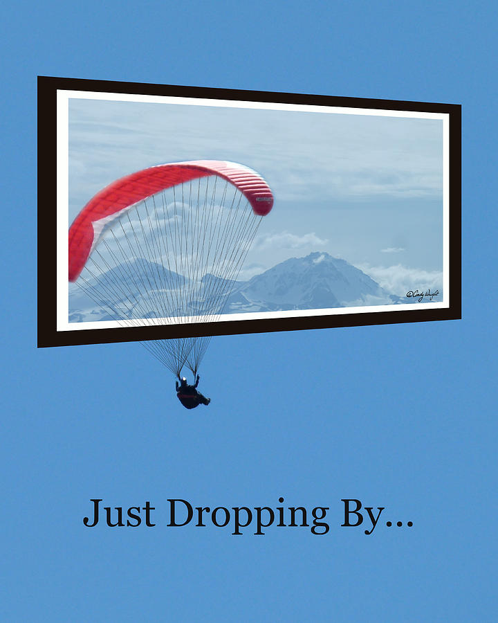 Cindy Photograph - Dropping In Hang Glider by Cindy Wright