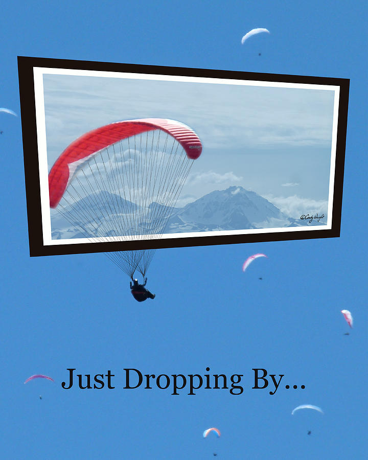 Cindy Photograph - Dropping In Hang Gliders by Cindy Wright