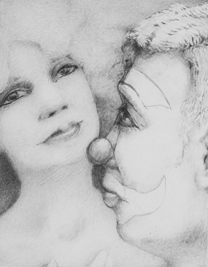 Louis Gleason Drawing - Drowning Muse by Louis Gleason