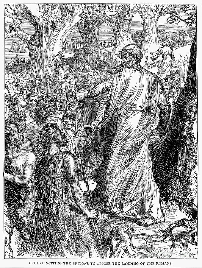 Ancient Photograph - Druids by Granger