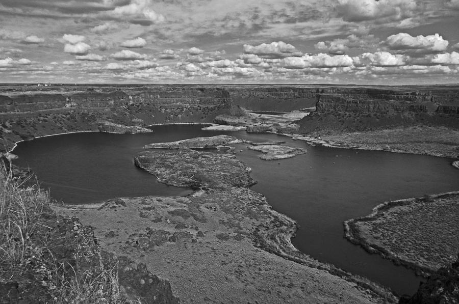 Washington State Photograph - Dry Falls B And W by Seth Shotwell