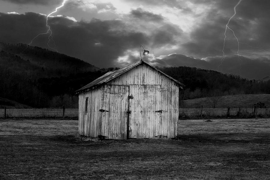 Shed Photograph - Dry Storm by Ron Jones
