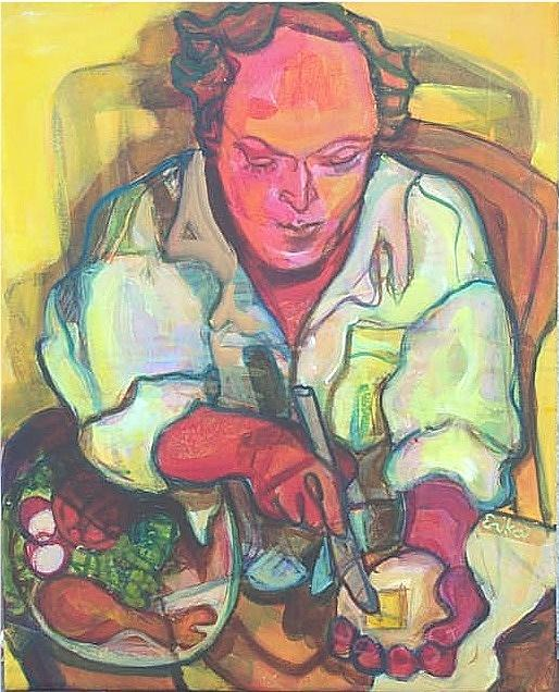 Portrait Painting - Du Buffet by Erika Richert