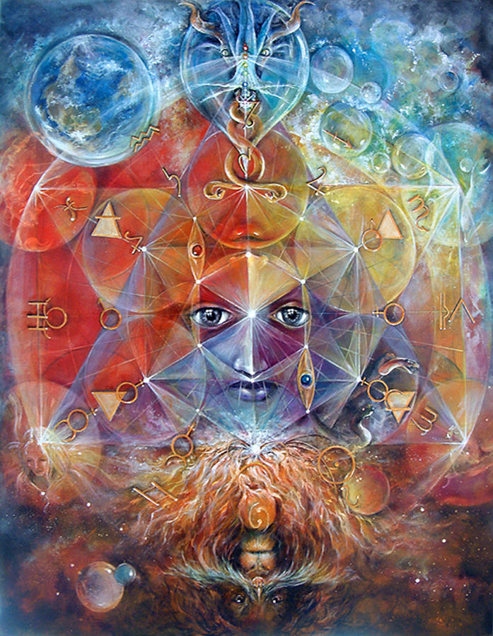 Fantasy Painting - Duality by Penny Golledge