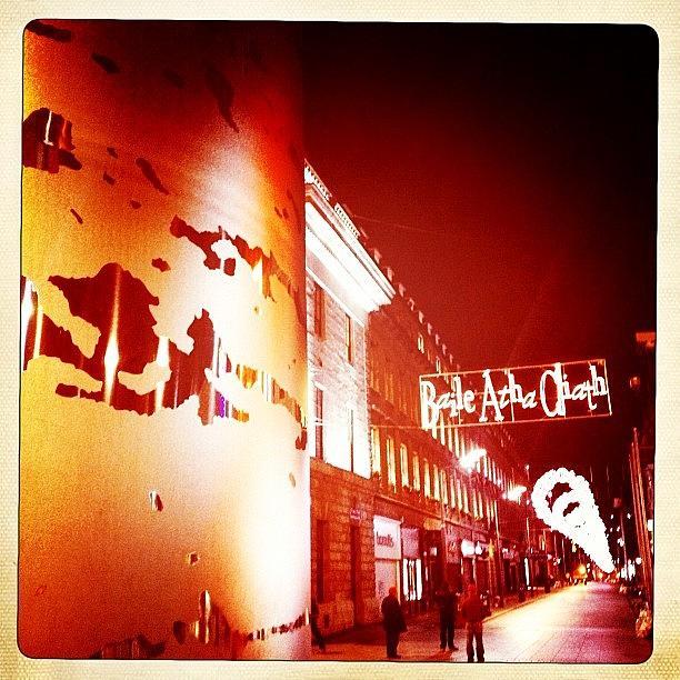 Dublin Photograph - #dublin #christmas Lights A View From by David Lynch