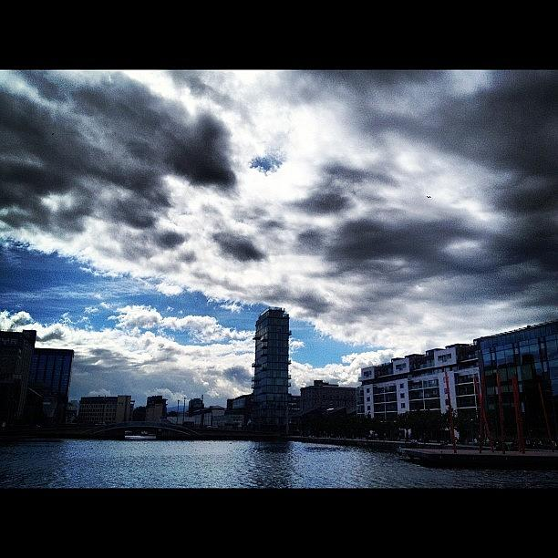 Dublin Photograph - #dublin Docklands #clouds #cloudporn by David Lynch