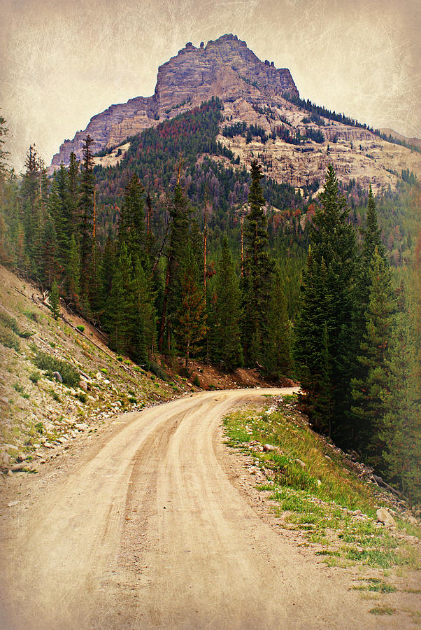 Mountains Photograph - Dubois Mountain Road by Marty Koch