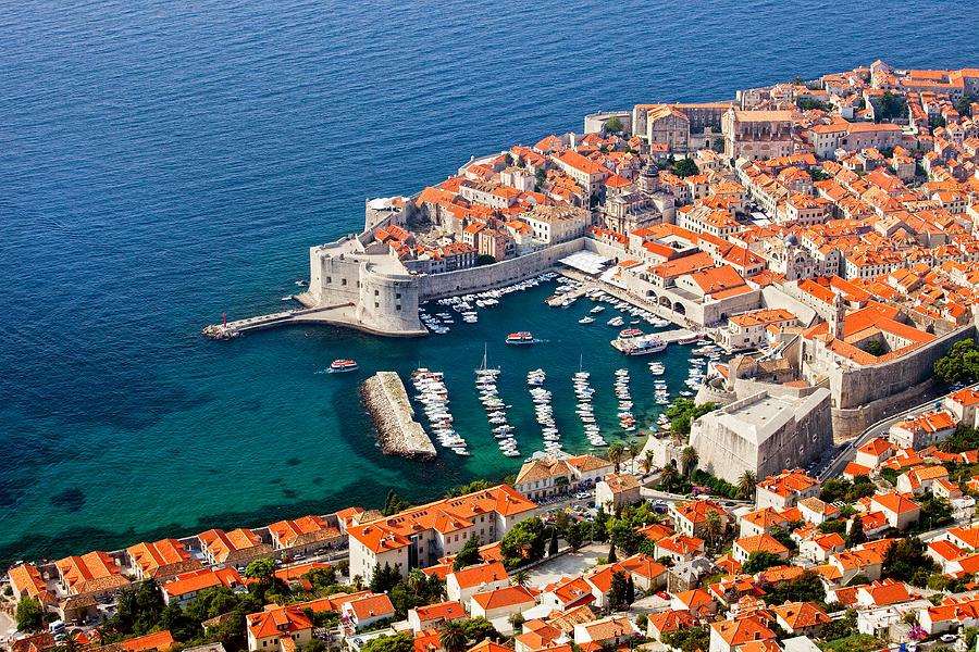 Dubrovnik Photograph - Dubrovnik Old City Aerial View by Artur Bogacki