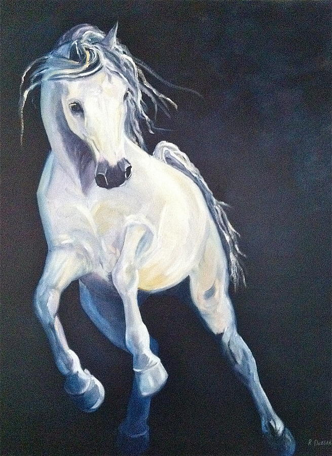 Stallions Painting - Duca di Busted by Rachel Dubber