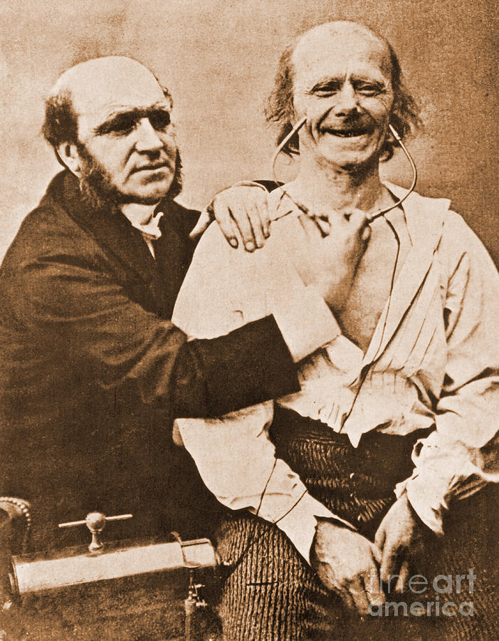 Historic Photograph - Duchenne Studying Physiognomy by Science Source
