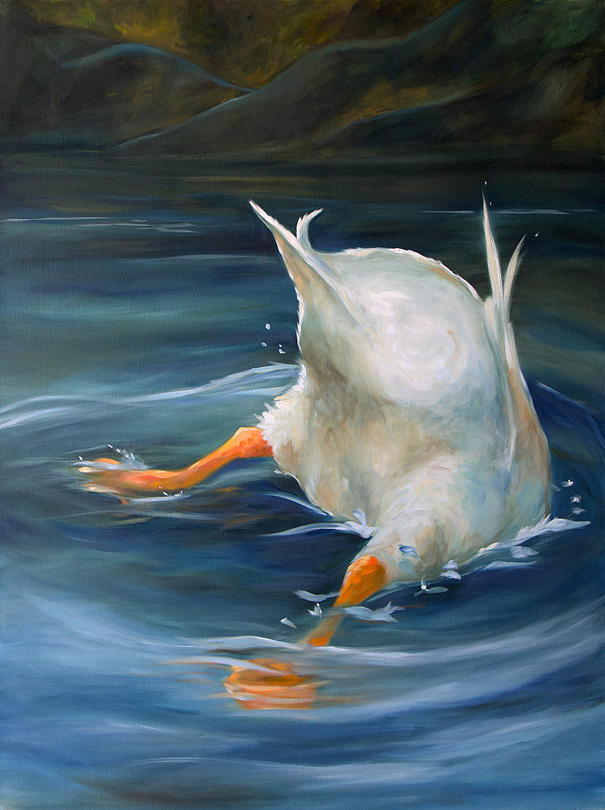 Art Painting - Duck Butt by Mary Sparrow
