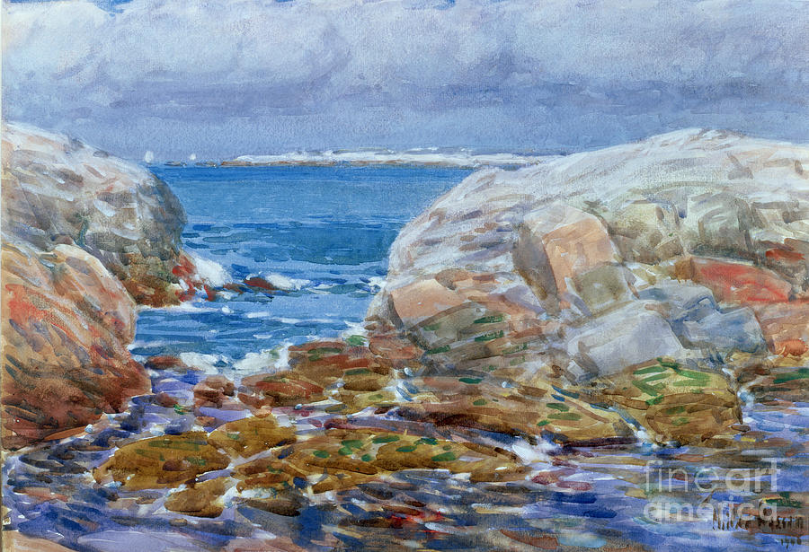 Seascapes Painting - Duck Island by Childe Hassam
