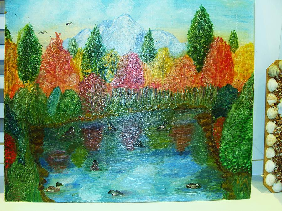 Lake Painting - Duck Lake by Jeanne Mytareva