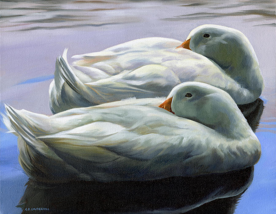 Duck Painting - Duck Nap by Alecia Underhill