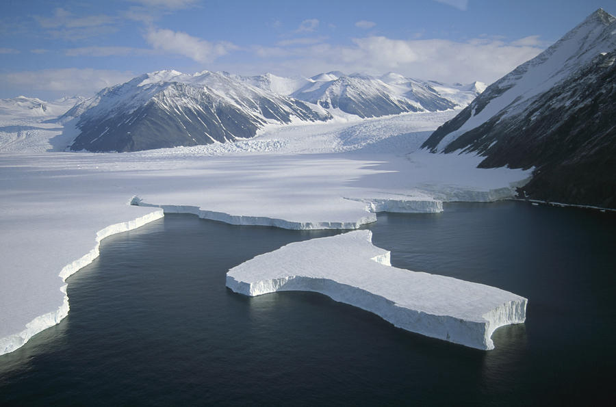 Mp Photograph - Dugdale And Murray Glaciers Antarctica by Tui DeRoy